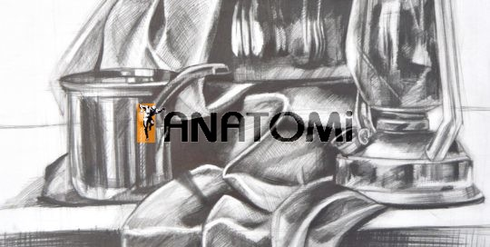 Karakalem Obje Kompozisyon Anatomi Sanat Akademisi